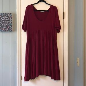 Annabelle Babydoll Tunic/Dress Cardinal w/ pockets